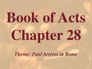 Book of Acts  Chapter 28