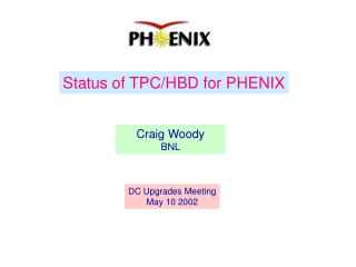 Status of TPC/HBD for PHENIX