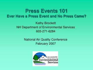 Press Events 101 Ever Have a Press Event and No Press Came?
