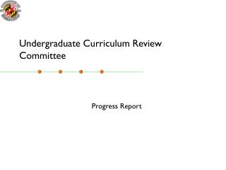 Undergraduate Curriculum Review Committee