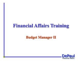 Financial Affairs Training