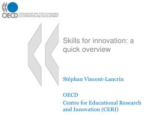 Skills for innovation: a quick overview