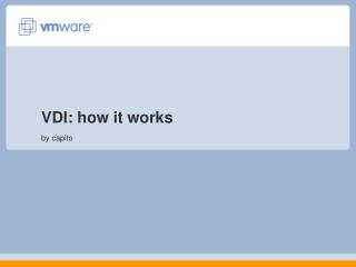 VDI: how it works by capito