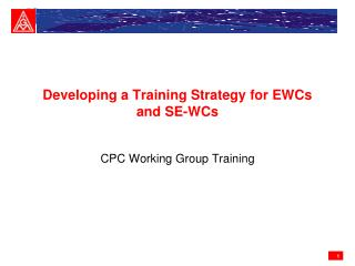 Developing a Training Strategy for EWCs and SE-WCs