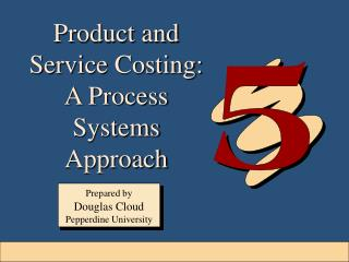 Product and Service Costing:  A Process Systems Approach