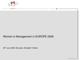 Women in Management in EUROPE 2009