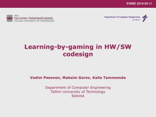 Learning-by-gaming in HW/SW codesign