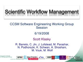 Scientific Workflow Management