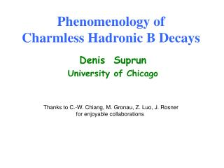 Phenomenology of Charmless Hadronic B Decays