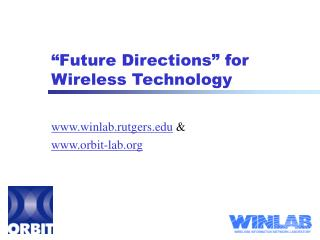 """Future Directions"" for Wireless Technology"