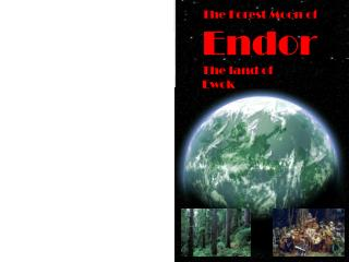 The Forest Moon of Endor The land of Ewok
