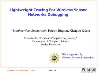 Lightweight Tracing For Wireless Sensor Networks Debugging