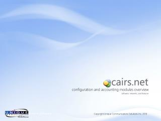 configuration and accounting modules overview software, networks, and features