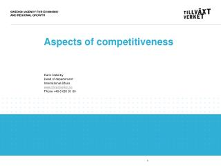 Aspects of competitiveness