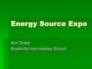 Energy Source Expo
