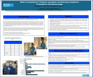 What is Competence? Trainees' perception of achieving competence in Obstetrics and Gynaecology