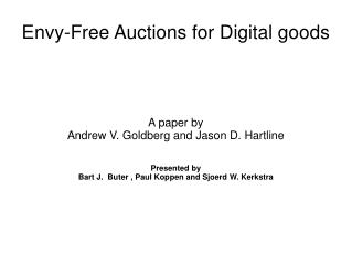 Envy-Free Auctions for Digital goods