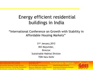 Energy efficient residential buildings in India