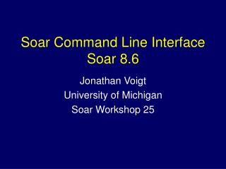Soar Command Line Interface Soar 8.6