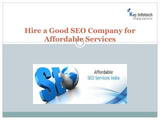Good SEO Company for Affordable Services