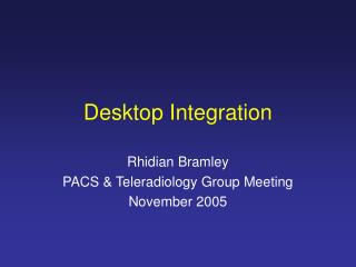 Desktop Integration