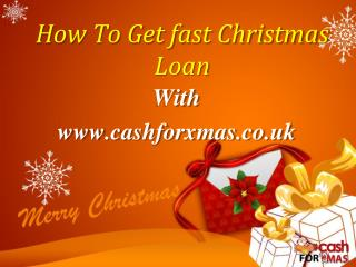 how to get a loan fast
