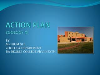 ACTION PLAN ZOOLOGY XI