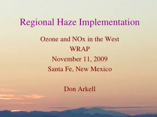 Regional Haze Implementation