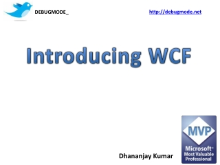 Web Services and WCF in