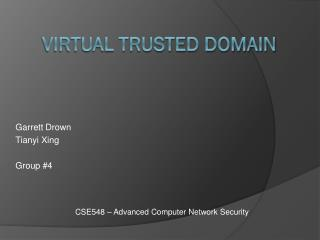 Virtual Trusted Domain