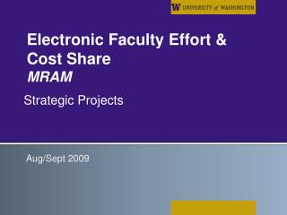 Electronic Faculty Effort & Cost Share MRAM