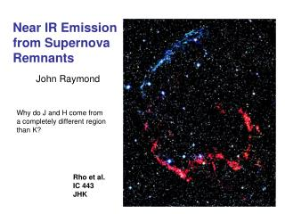 Near IR Emission  from Supernova Remnants