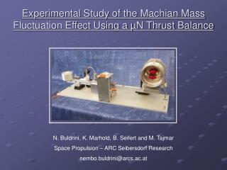 Experimental Study of the Machian Mass Fluctuation Effect Using a  µN Thrust Balance