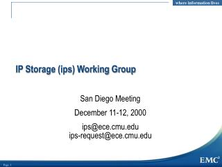 IP Storage (ips) Working Group