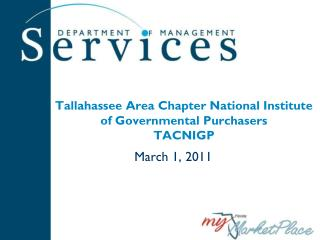 Tallahassee Area Chapter National Institute of Governmental Purchasers TACNIGP