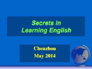 Secrets in Learning English