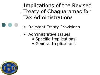 Implications of the Revised Treaty of Chaguaramas for Tax Administrations