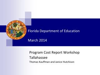 Florida Department of Education March 2014