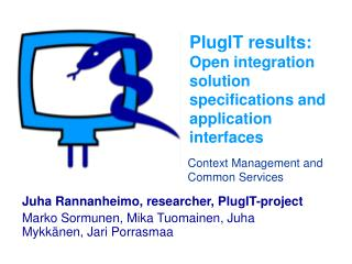 PlugIT results: Open integration solution specifications and application interfaces