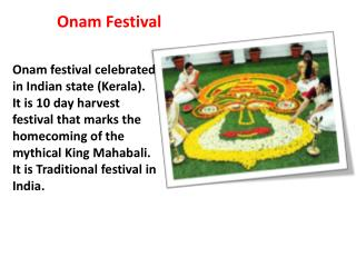 Onam Festival Celebration in India