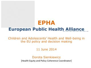 EPHA European Public Health Alliance