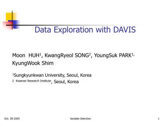 Data Exploration with DAVIS