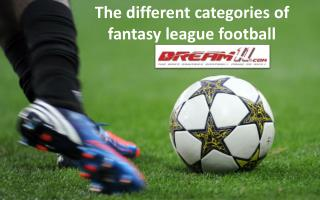 The Different Categories of Fantasy League Football