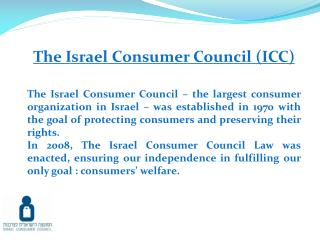 The Israel Consumer Council (ICC)