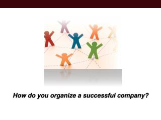 How do you organize a successful company?