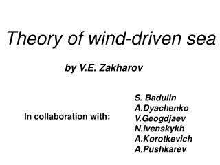 Theory of wind-driven sea