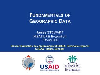 Fundamentals of Geographic Data