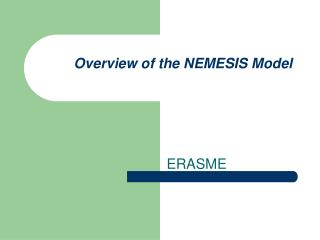 Overview of the NEMESIS Model