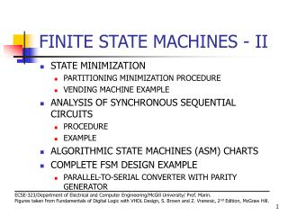 FINITE STATE MACHINES - II