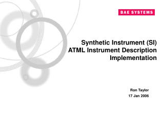 Synthetic Instrument (SI)  ATML Instrument Description Implementation